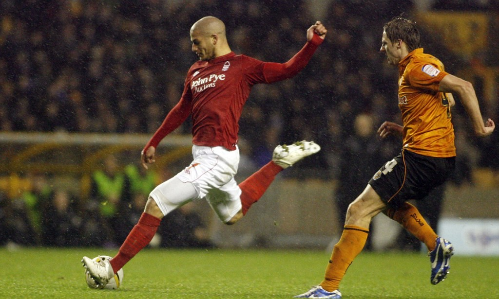 Adlene Guediora scores for Forest...Wolverhampton Wanderers v Nottingham Forest, Npower Championship, Molineux, Wolverhampton, England, UK. 24th November 2012........... INSPORT..tel - 07929 926049.Insport Sports Pictures, Insport International, AIF,.David Smith, 4 Coniston Road, Edith Weston, Rutland, LE15 8HP, . images@insport-pics.co.uk.